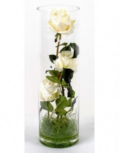 BOUQUET ROSES BLANCHES, ca. 40cm